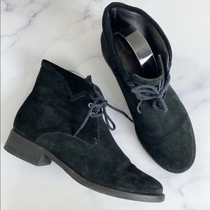 Joie Black Suede Lace Up Ankle Bootie 38🌿